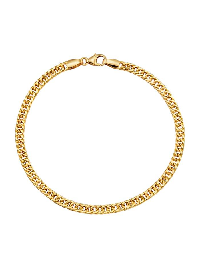 Amara Or Bracelet maille gourmette en or jaune 750, Coloris or jaune