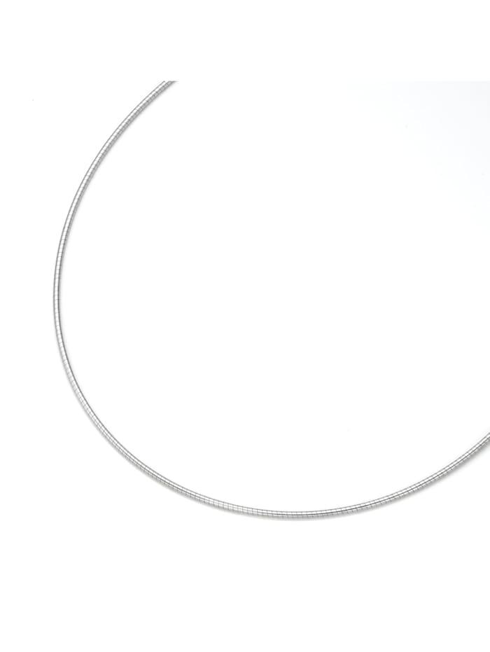 Smart Jewel Kette rhodiniert, Silber 925, Omegakette, Silber