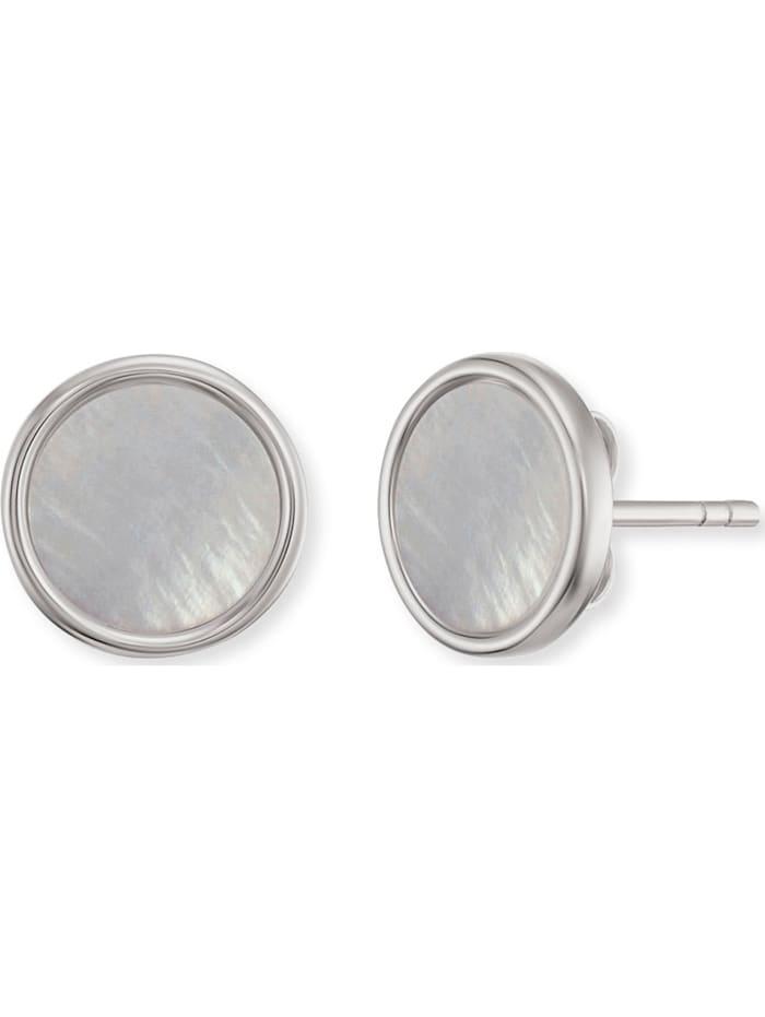 Engelsrufer Engelsrufer Damen-Ohrstecker 925er Silber rhodiniert 33 Zirkon, perlmutt