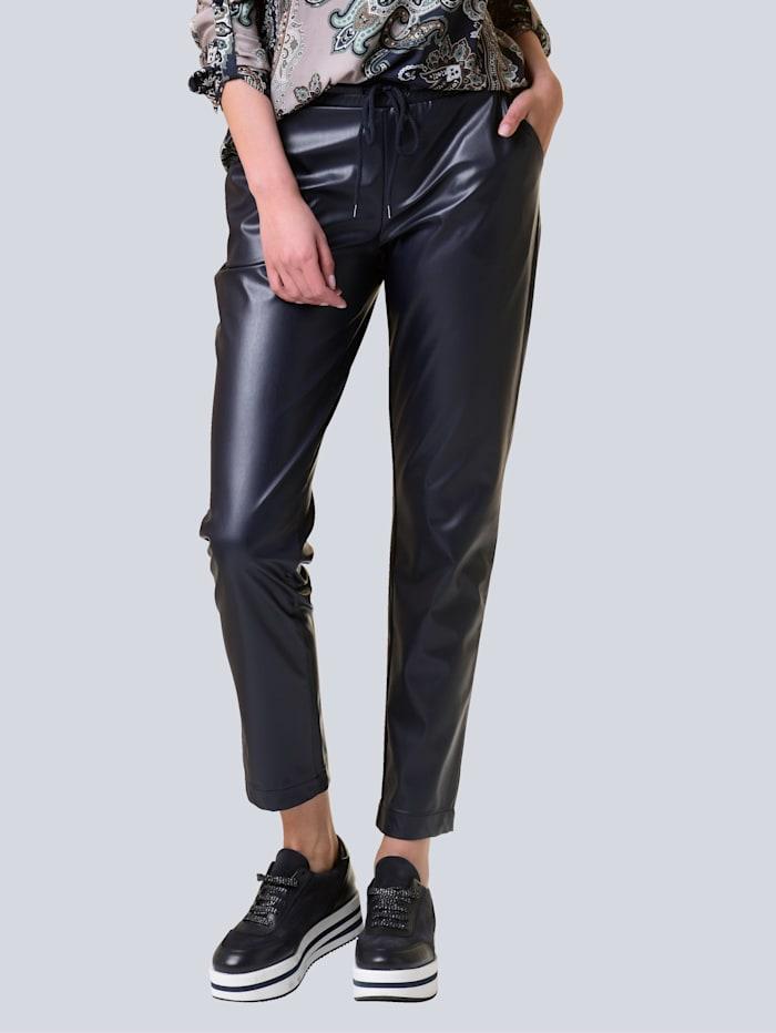Alba Moda Broek in trendy jogpantstyle, Marine