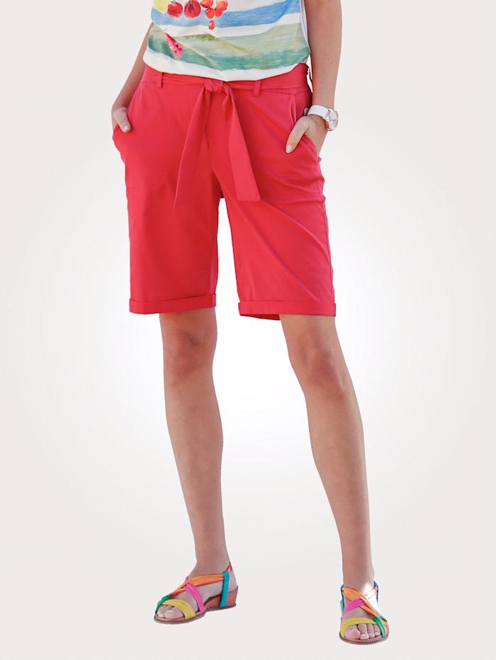 MONA Bermuda en coton léger, Rouge