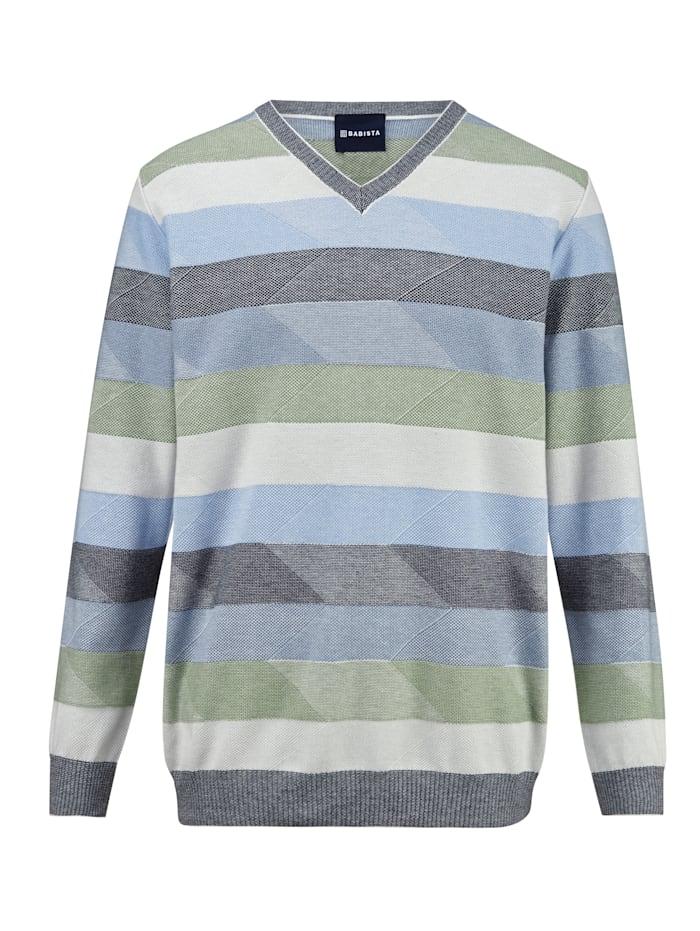 BABISTA Pullover mit feiner Struktur, Blau/Grün