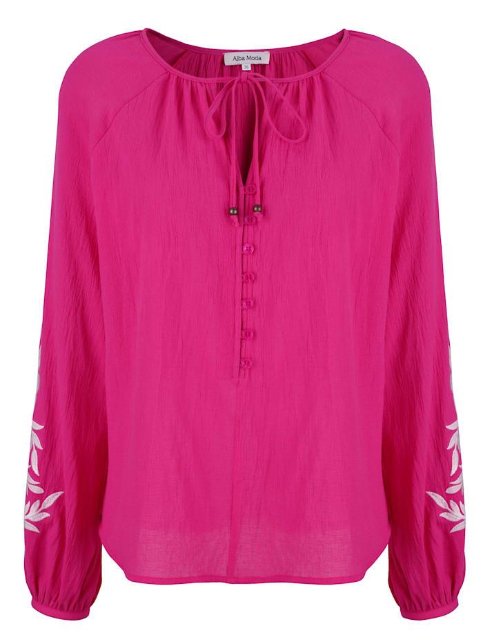Alba Moda Strandblouse met borduursel, Pink