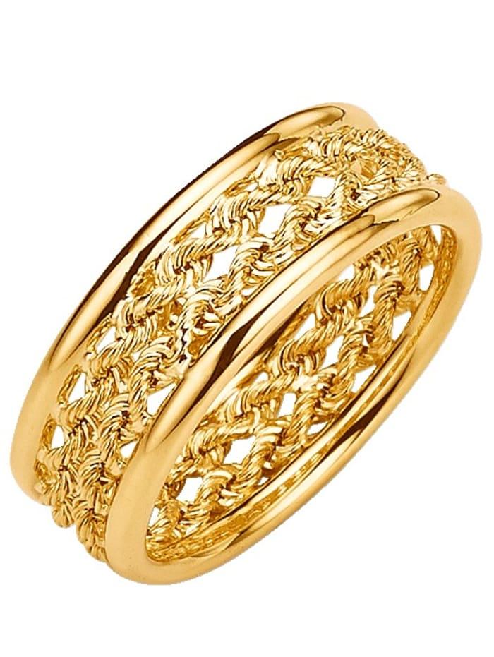Damenring Gelbgold 375, Gelb