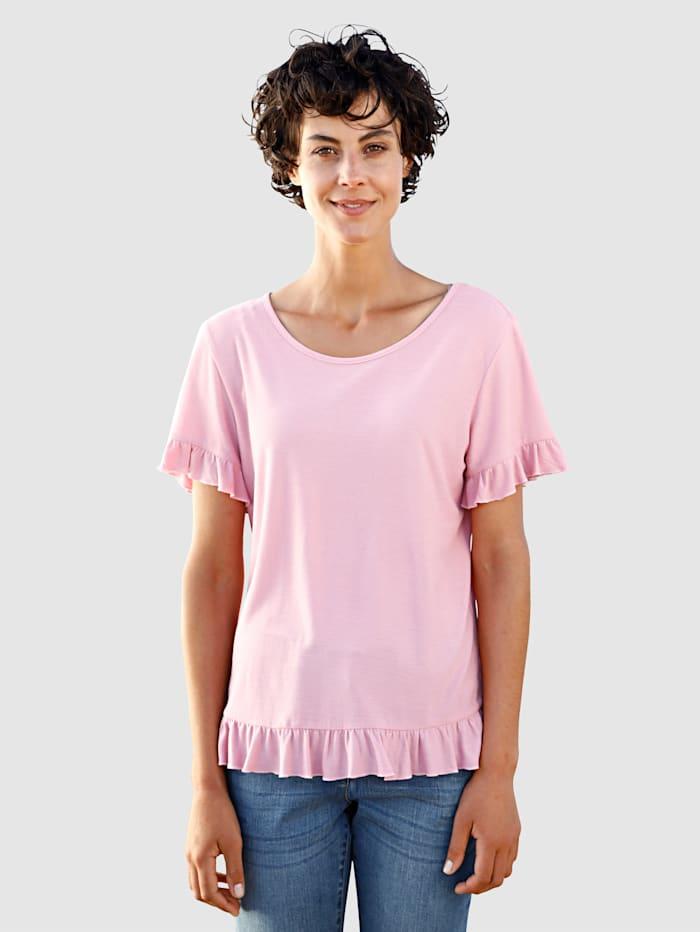 Dress In Shirt met volants, Lavendel
