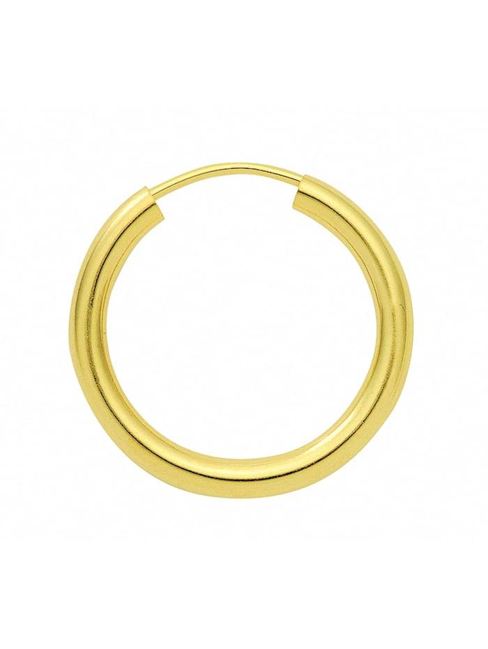 1001 Diamonds Damen Silberschmuck 925 Silber Ohrringe / Creolen Ø 20 mm, vergoldet