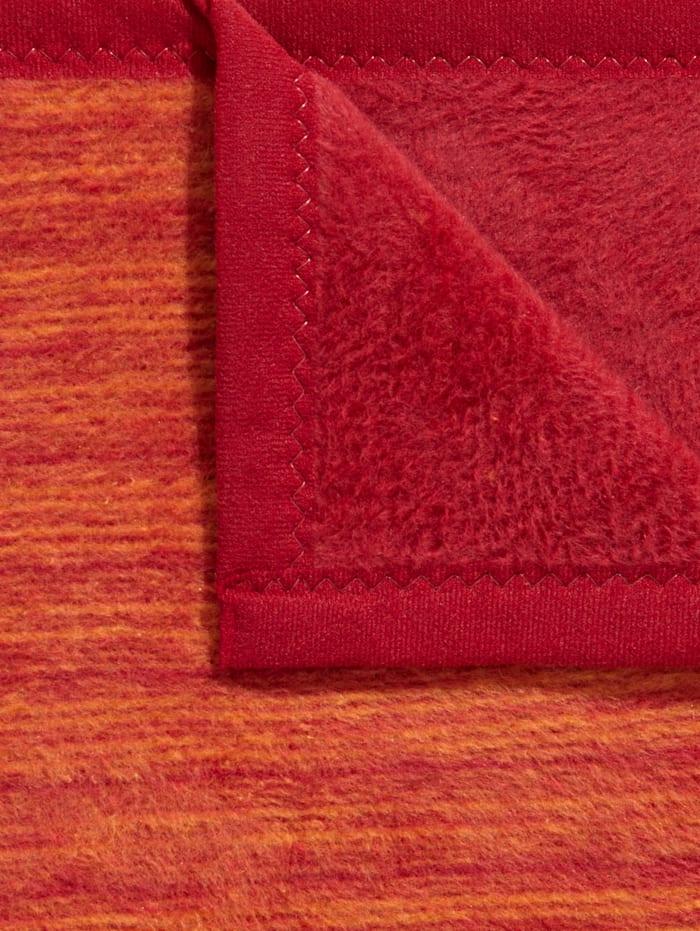 Ibena Jacquard Schoner-Serie 'Fano', Rot/Orange