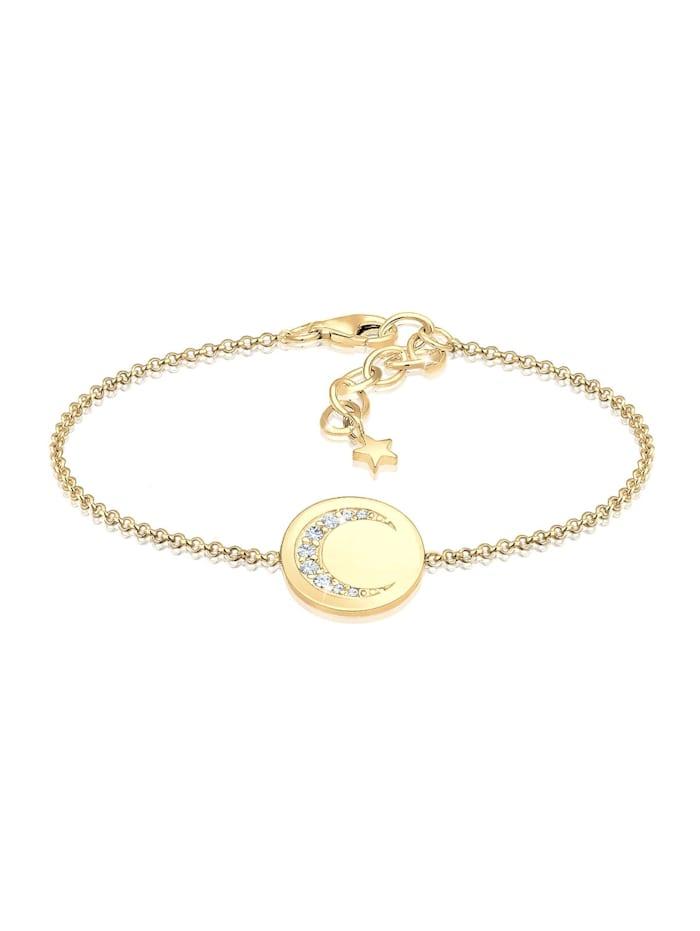 Elli Armband Halbmond Astro Kristalle 925 Silber, Gold