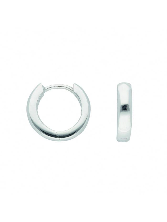 1001 Diamonds Damen Silberschmuck 925 Silber Ohrringe / Creolen Ø 12 mm, silber