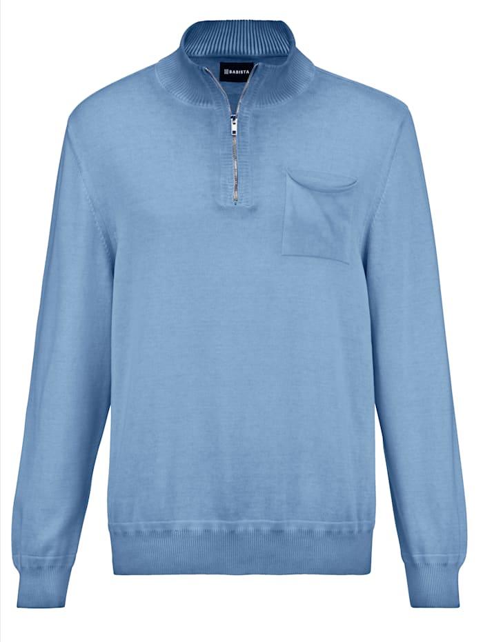 BABISTA Pullover in gewaschenem Stil, Hellblau