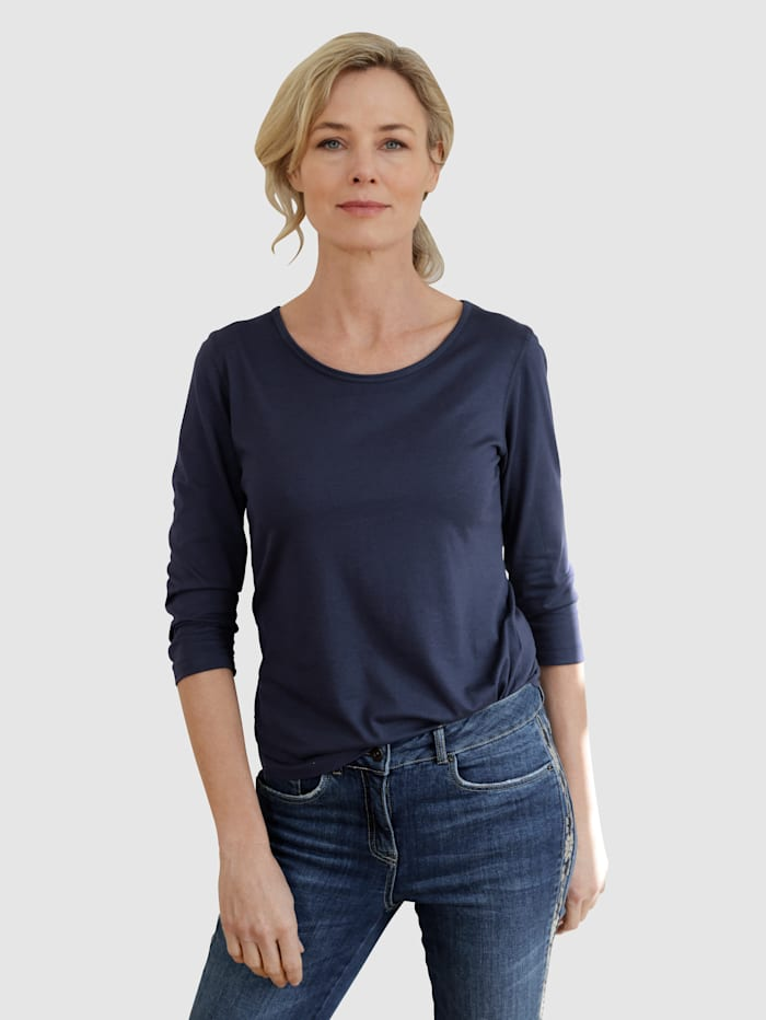 Dress In Shirt in trageangenehmer Qualität, Marineblau