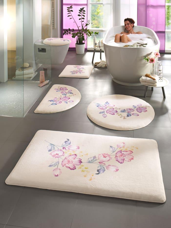 Webschatz Tapis de bain 'Peking', Beige/rose