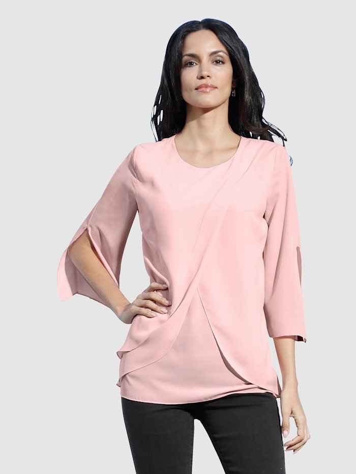 AMY VERMONT Bluse in Lagen-Optik, Rosé
