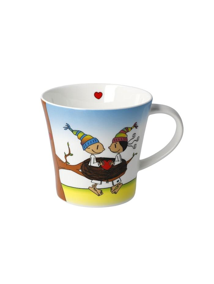 "Goebel Goebel Coffee-/Tea Mug Der kleine Yogi - ""Glück ist Zeit"", Bunt"