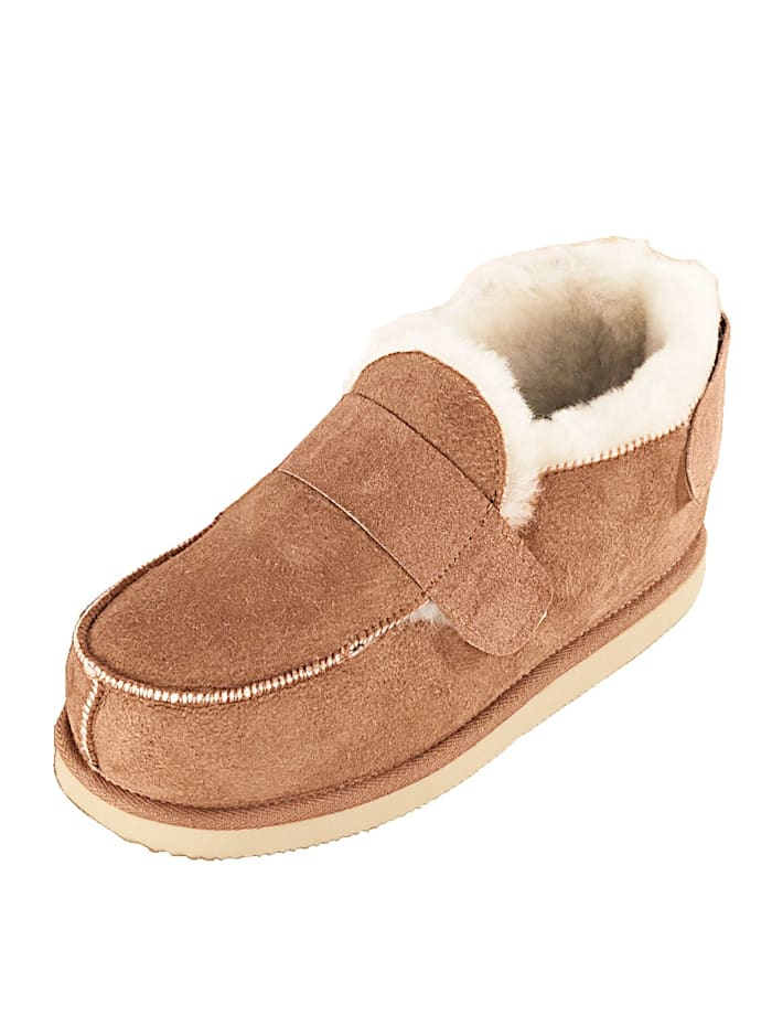 Kaiser Naturfellprodukte Lammfell-Komfort-Schuhe, braun
