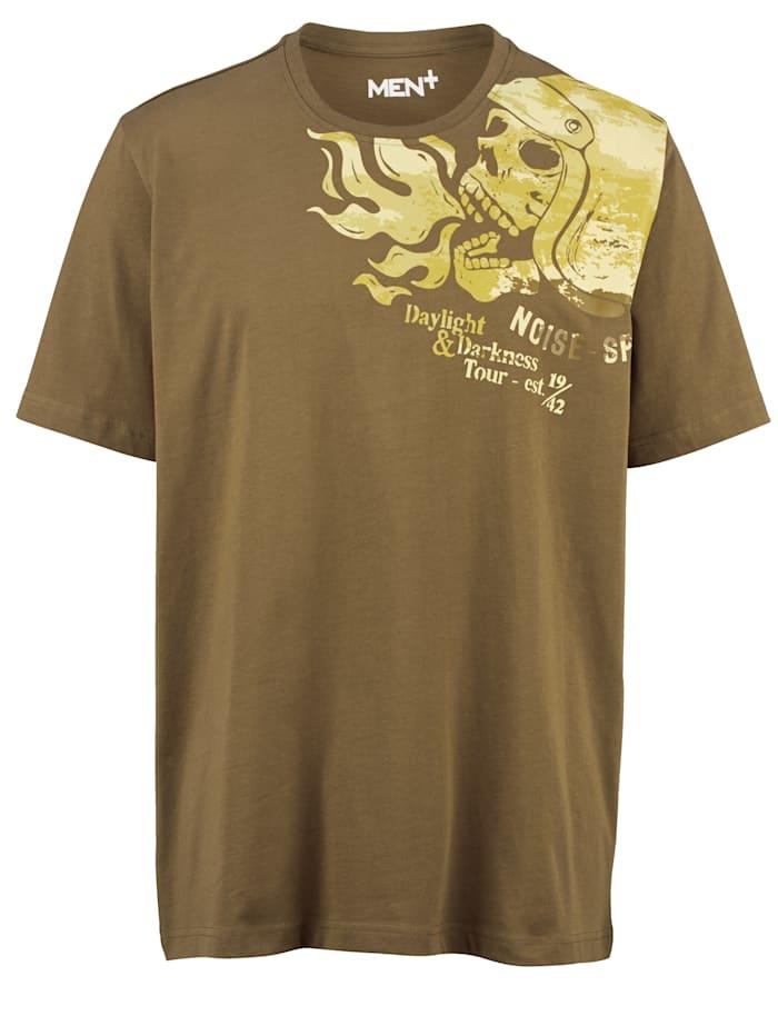 Men Plus T-shirt av 100% bomull, Khaki