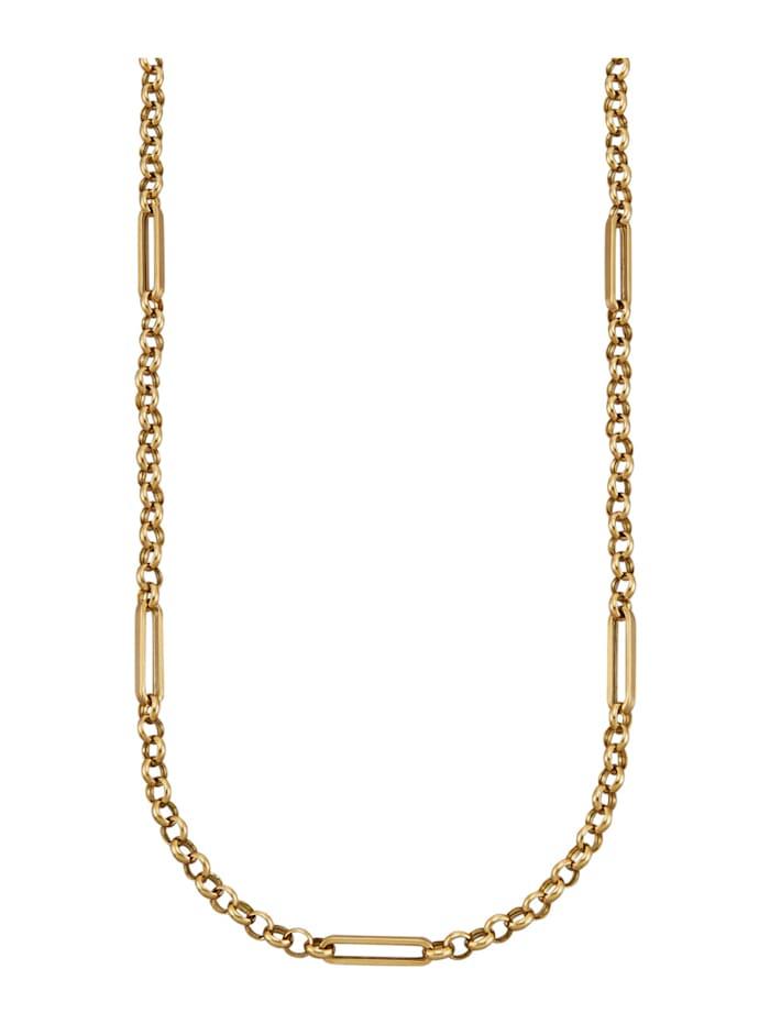 Diemer Gold Halskette in Gelbgold 585, Gelbgoldfarben