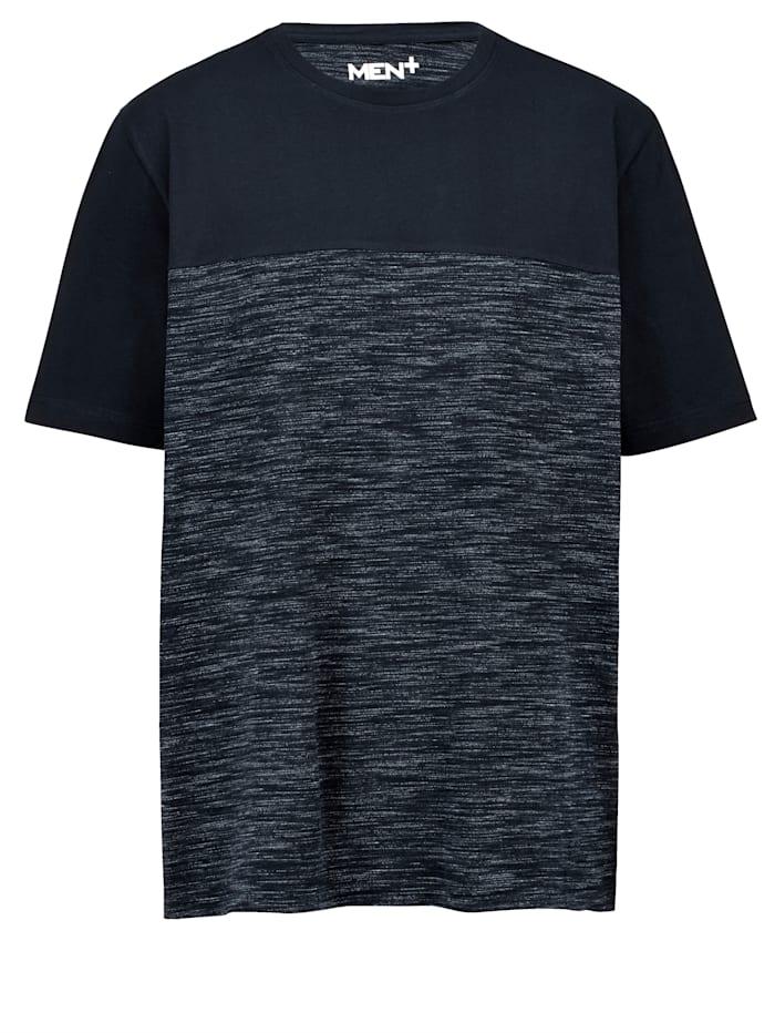 Men Plus Puuvillainen T-paita, Laivastonsininen