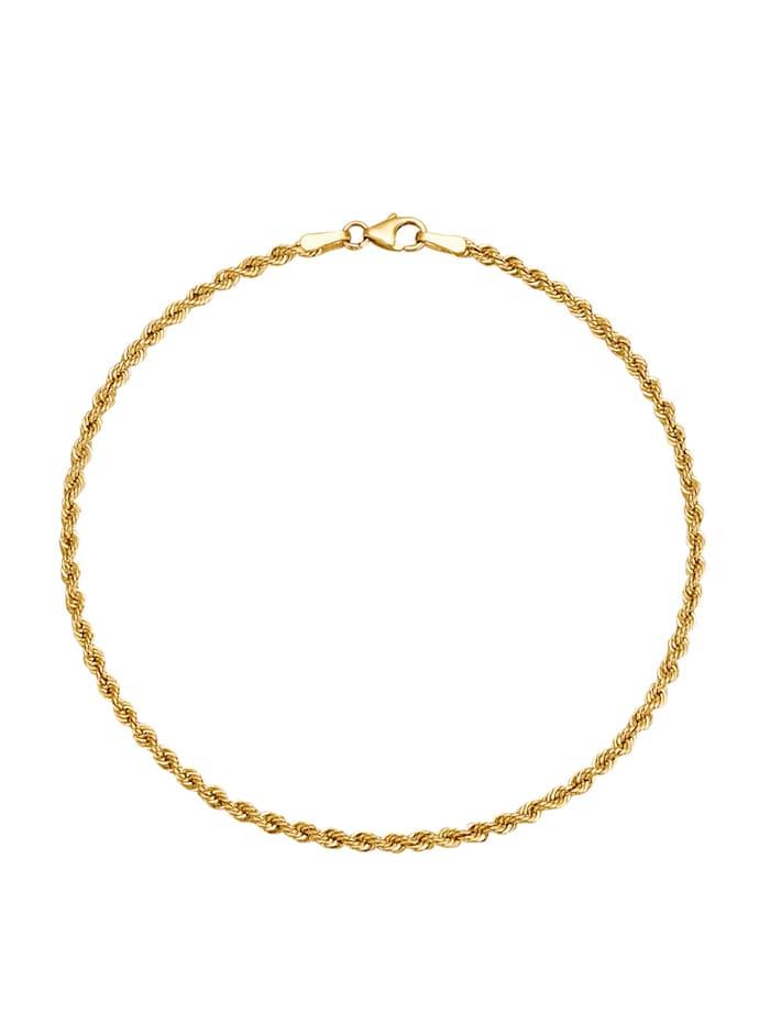 Amara Highlights Bracelet maille corde en or jaune 375, Coloris or jaune
