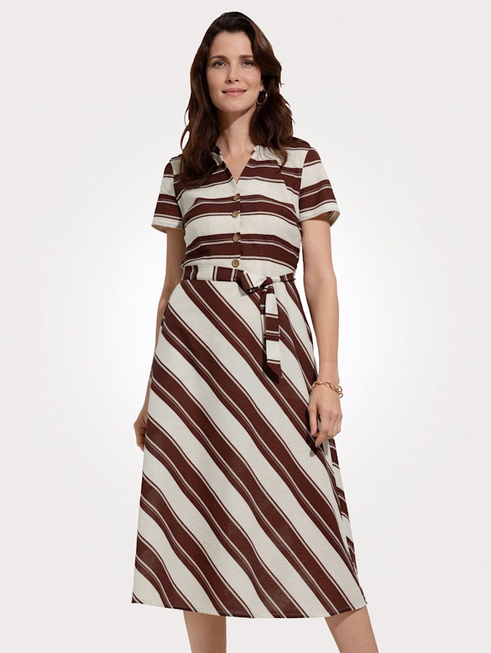 Kleid aus angenehmer Baumwoll-Leinen-Mischung