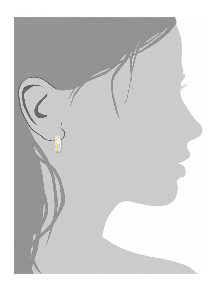 Creole für Damen, Sterling Silber 925, Zirkonia