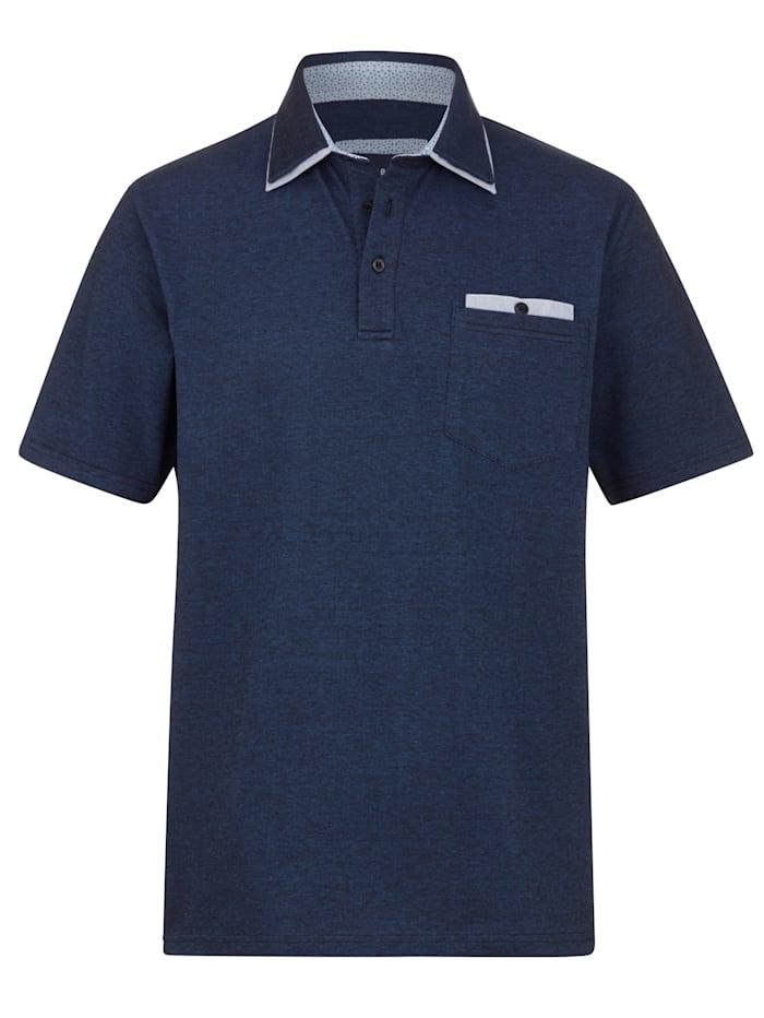 BABISTA Poloshirt in zweifarbiger Piqué-Qualität, Blau