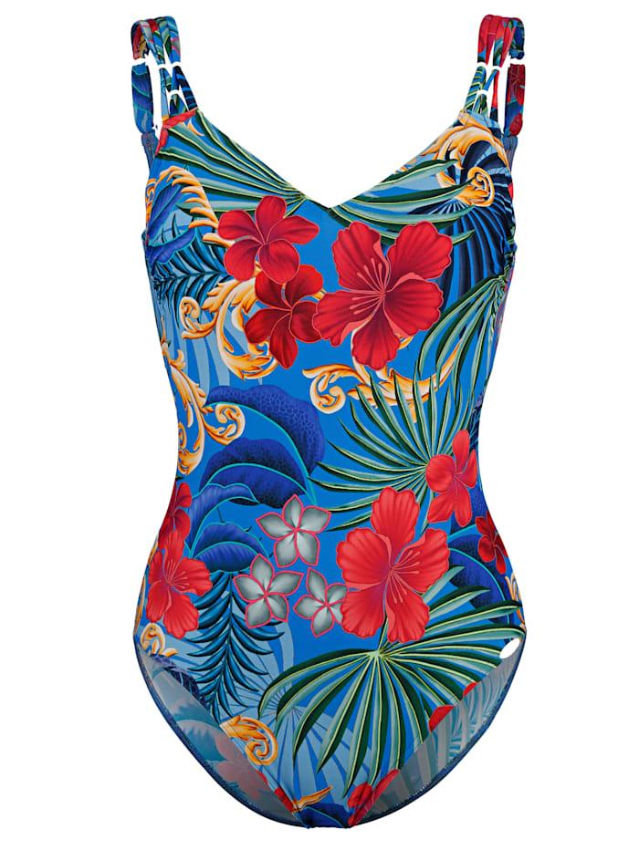 Sunflair Badeanzug mit Zierträgern, Nachtblau