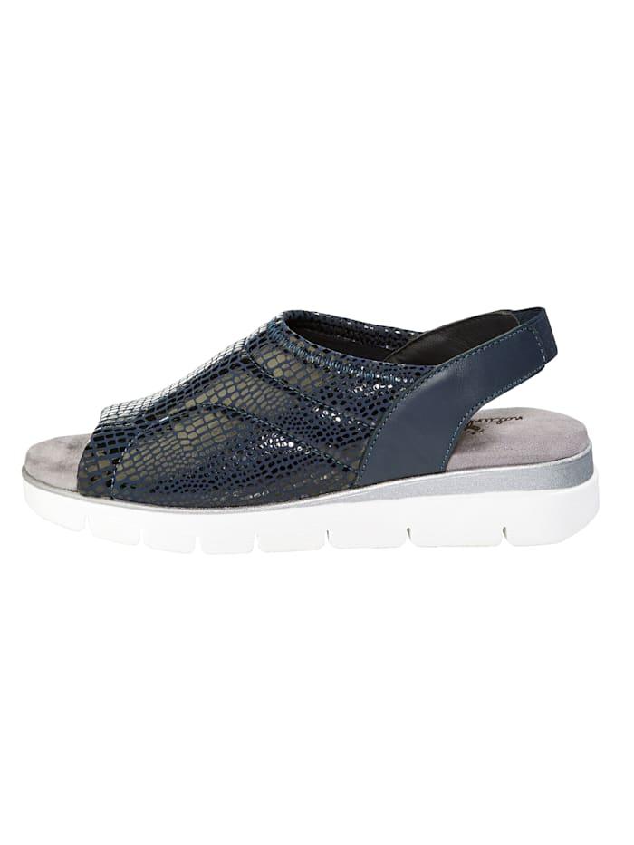 Sandale mit Elastikeinsatz