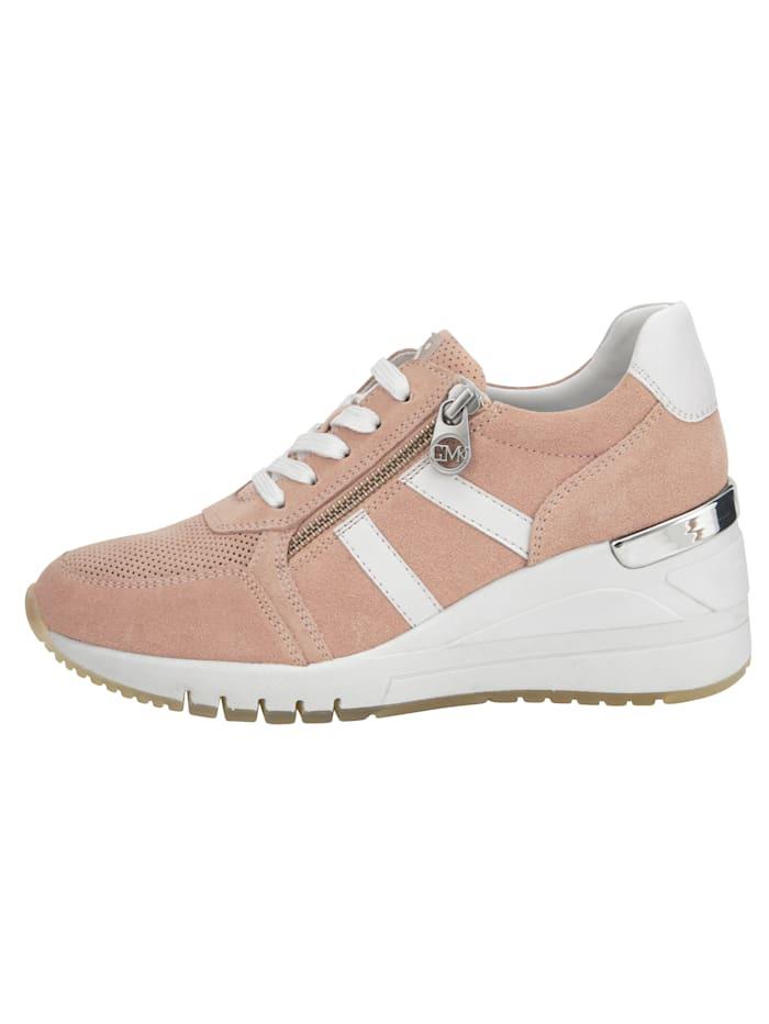 Sneaker met subtiele perforaties