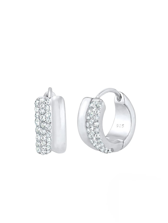 Ohrringe Creolen Kristalle Sparkling 925 Silber