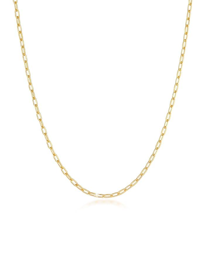 Elli Halskette Gliederkette Oval Chain Basic Trend 925 Silber, Gold