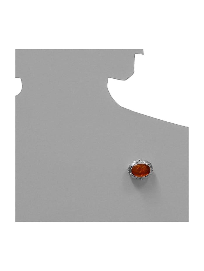 Brosche - Fischland 28x23 mm - Silber 925/000 - Bernstein
