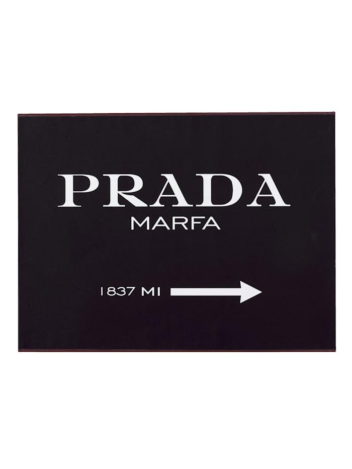 IMPRESSIONEN living Metallschild, Prada, schwarz/weiß