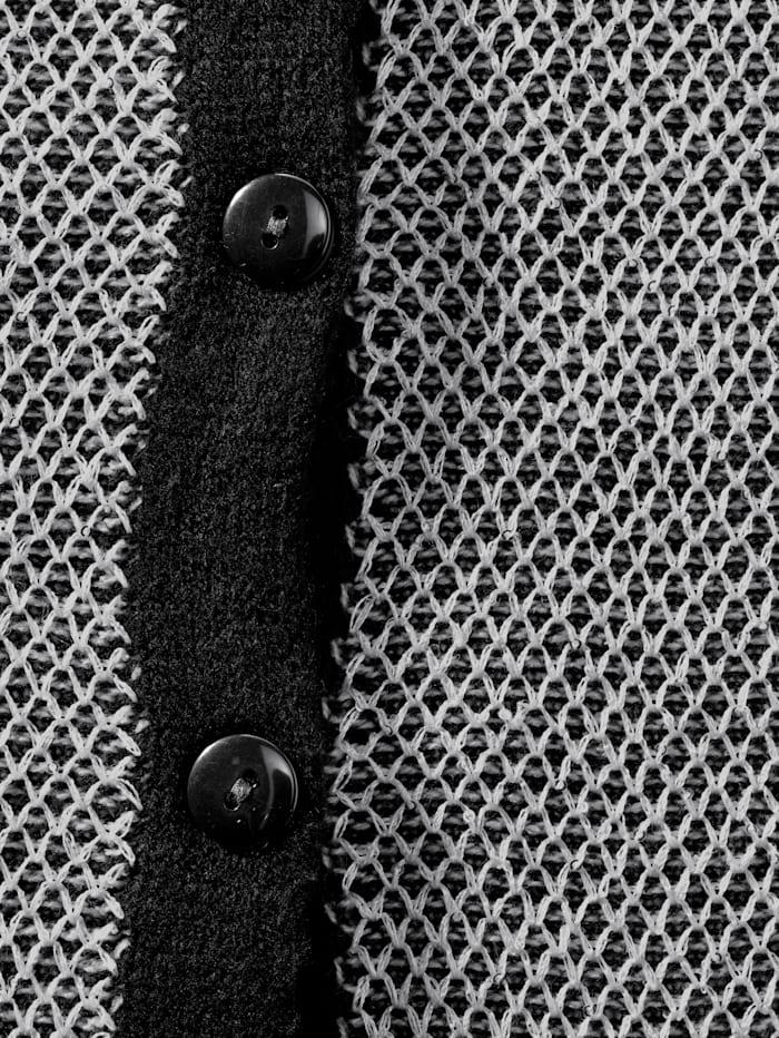 Vest van glanzend materiaal