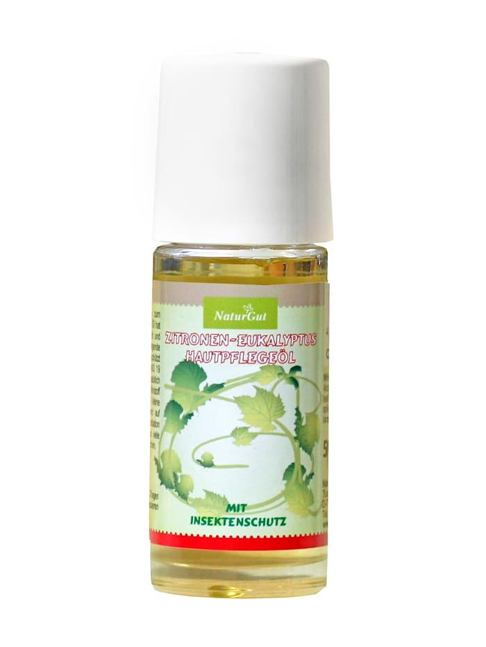 Natur Gut Zitronen-Eukalyptus Hautpflegeöl mit Insektenschutz Mit den besonders wertvollen BIO-Hautpflegeölen Arganöl und BIO-Nachtkerzenöl, Neutral