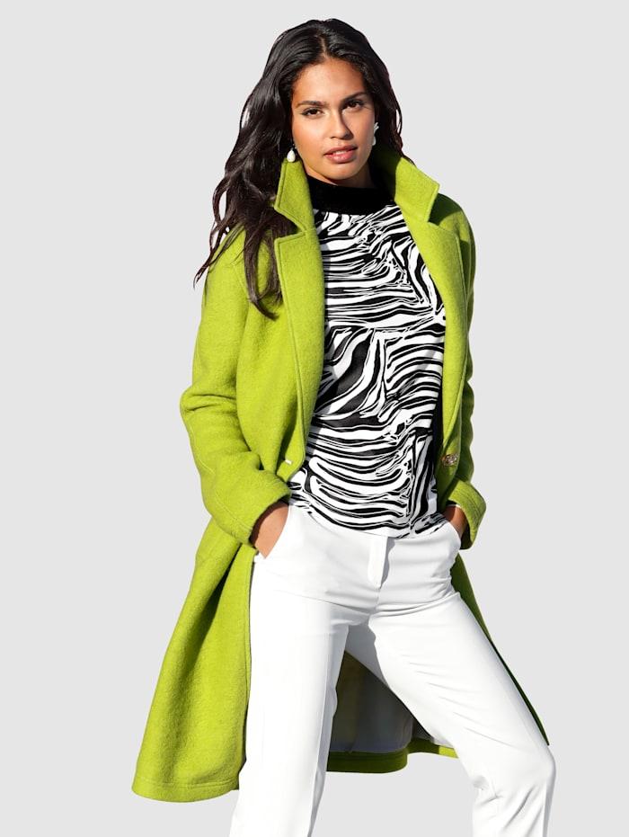 AMY VERMONT Manteau de coloris fluo vif, Vert fluo