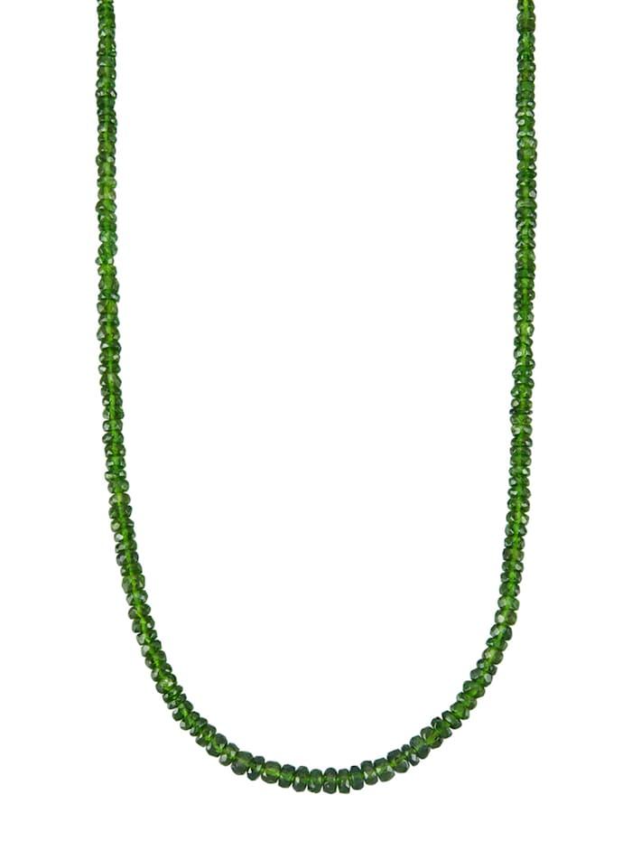 Diemer Farbstein Halskette in Gelbgold 585, Grün