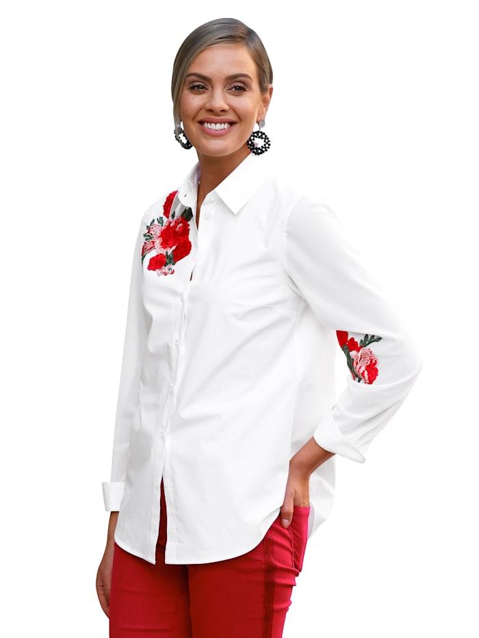 AMY VERMONT Bluse mit Stickerei, Weiß