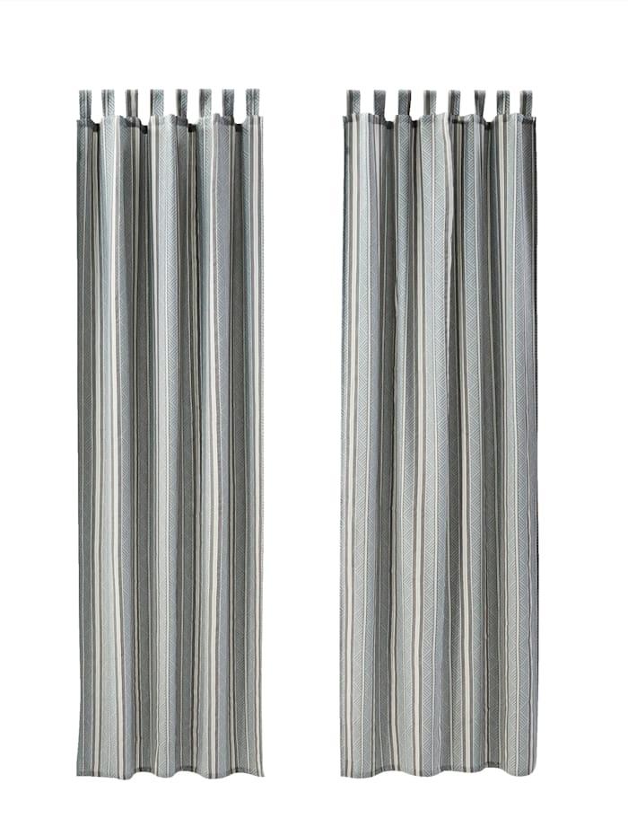 IMPRESSIONEN living Vorhang-Set, 2-tlg., grau/mint