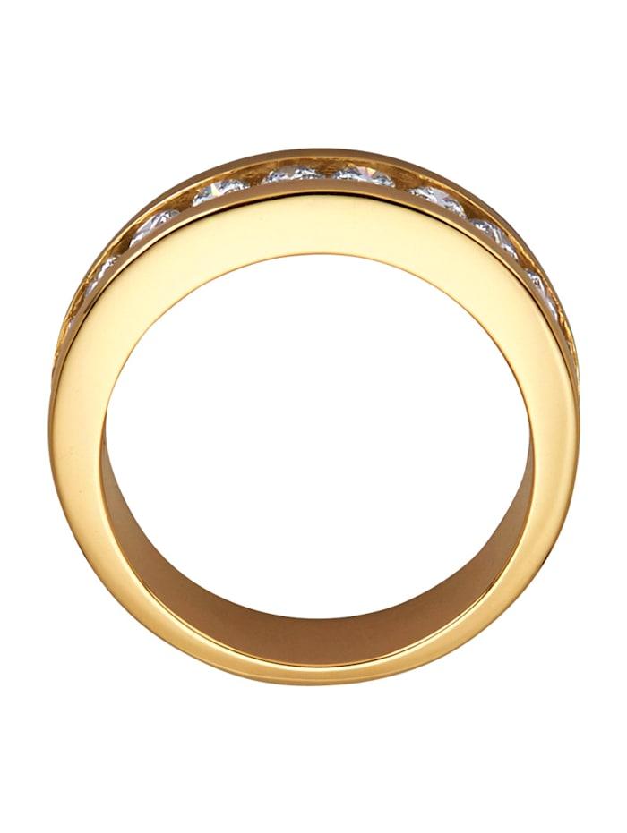 Kultainen timanttisormus