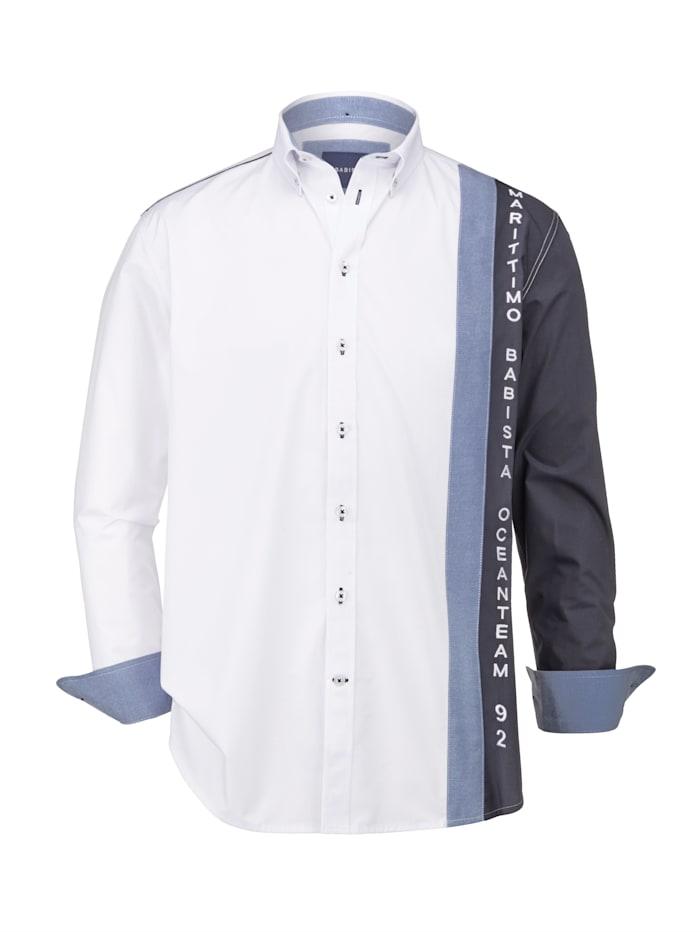 BABISTA Hemd in sportivem Style, Weiß/Marineblau