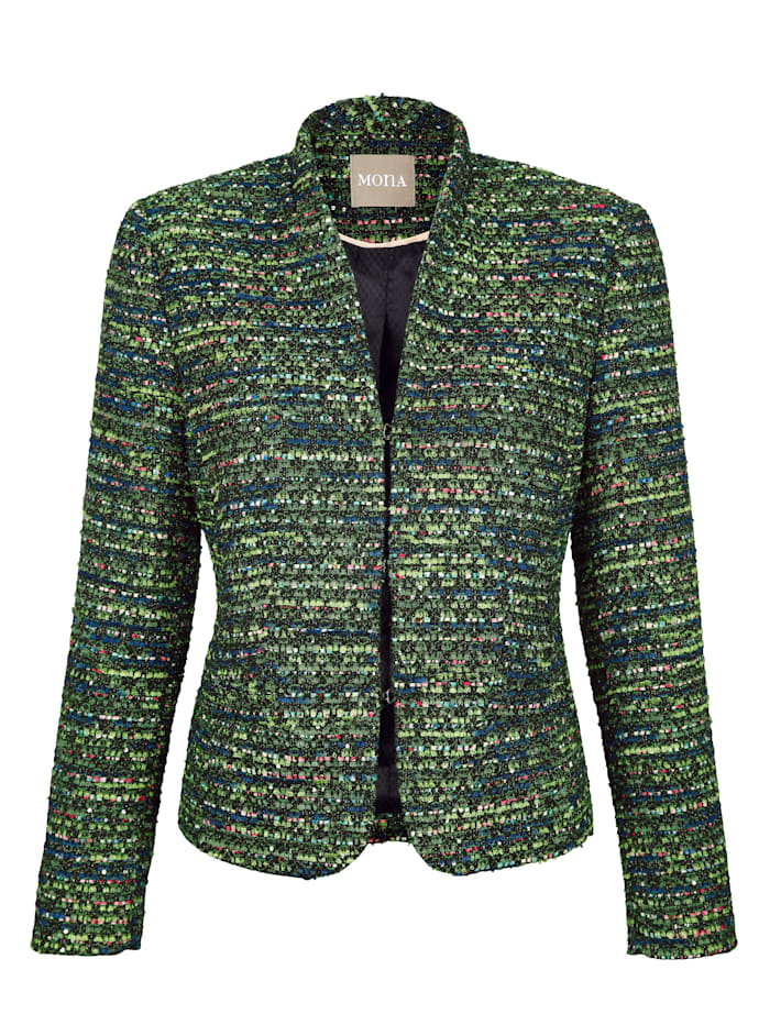 Blazer in a striking mélange fabric