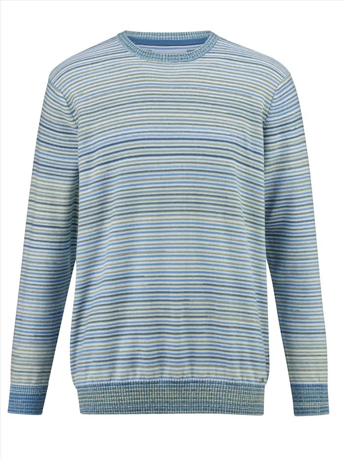 BABISTA Pull-over à motif rayé tissé-teint, Sauge/Bleu/Blanc