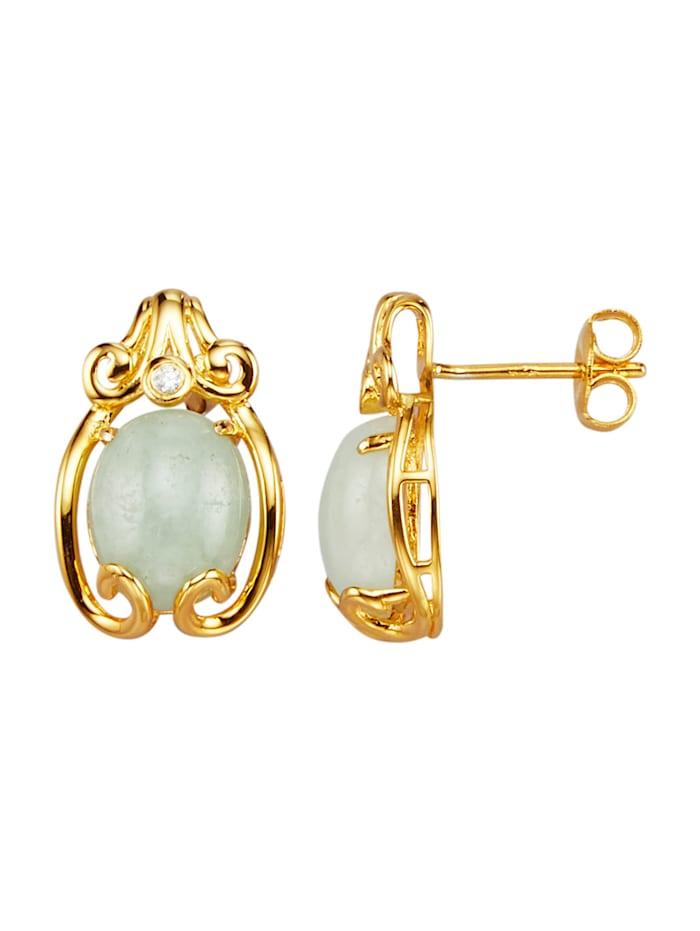 Ohrringe in Silber 925, vergoldet in Silber 925, vergoldet, Gelbgoldfarben
