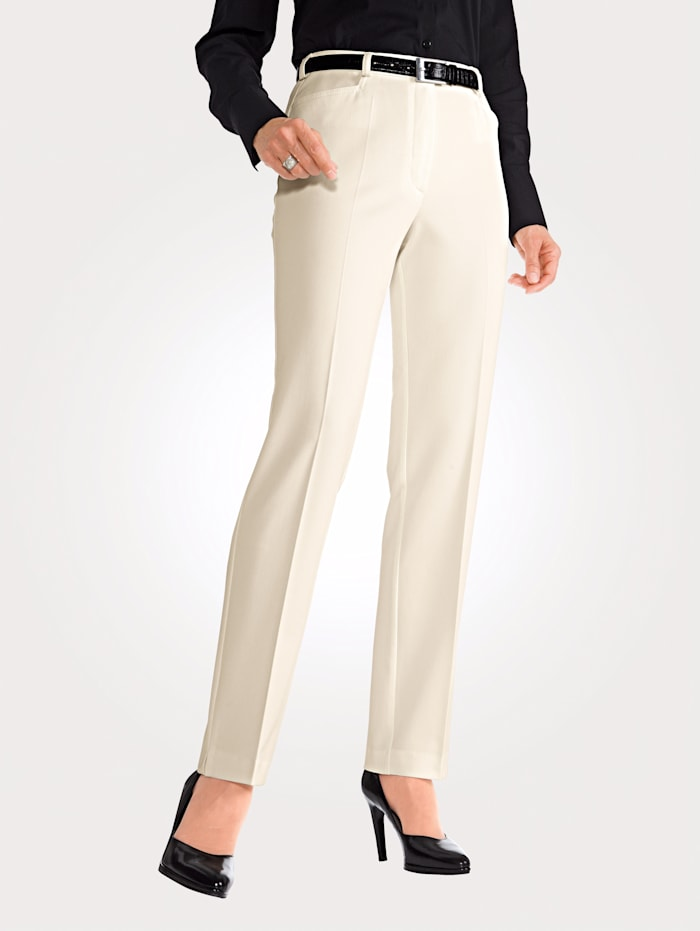 MONA Trousers with stretch, Wool White