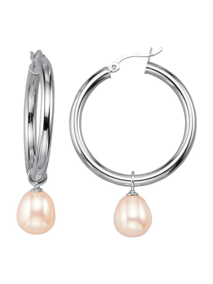 Créoles avec perles de culture d'eau douce, Blanc