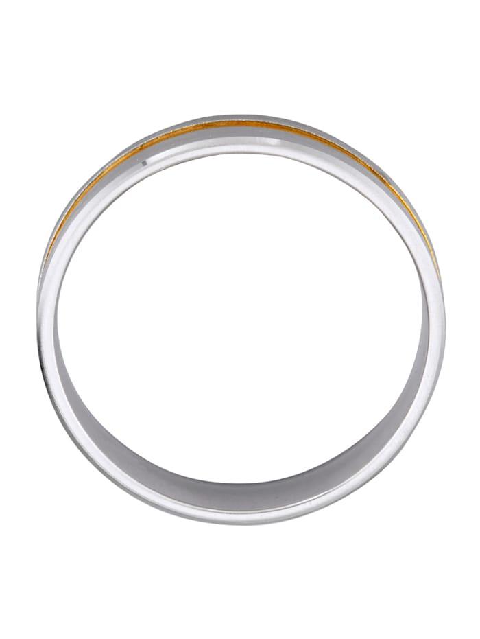 Förlovningsring i silver (tvåfärgad)