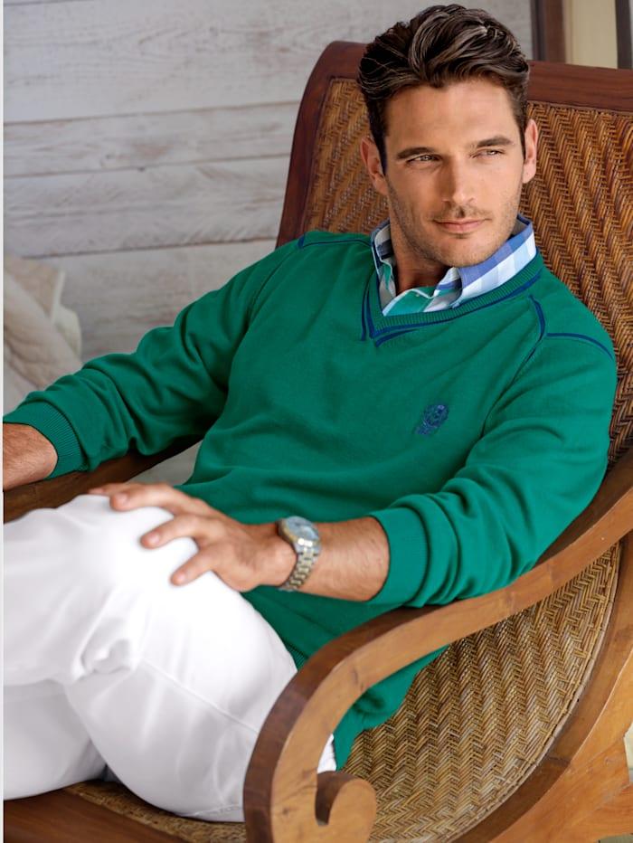 Pullover mit zweifarbigen Effekten