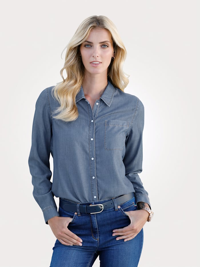 Blouse in denimlook
