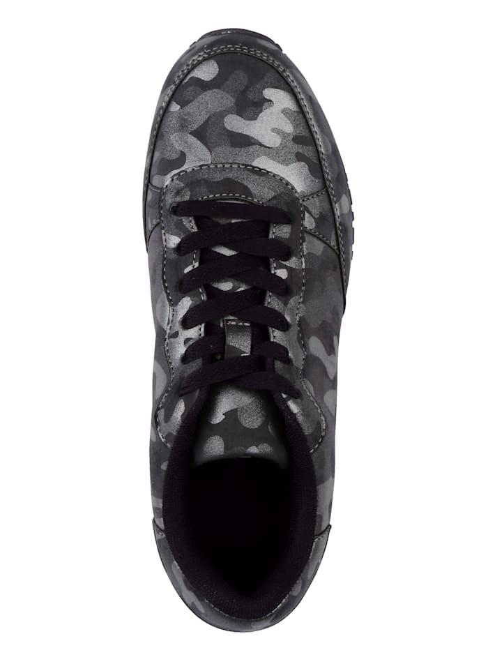 Sneaker in glanslook